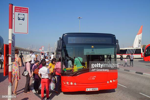 United Arab Emirates UAE UAE Middle East Dubai Metro subway public transportation Red Line Ibn Battuta Station migrant passengers bus stop
