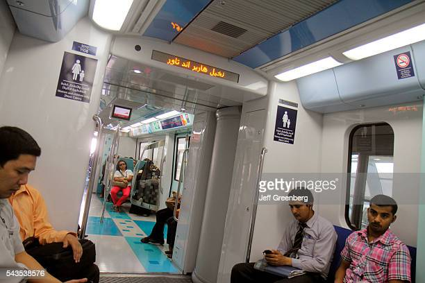 United Arab Emirates UAE UAE Middle East Dubai Metro subway public transportation Red Line Ibn Battuta Station passengers