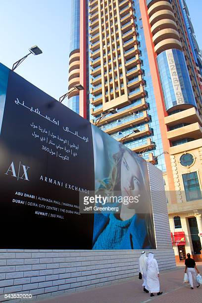 United Arab Emirates UAE UAE Middle East Dubai Trade Centre Sheikh Zayed Road billboard advertisement Armani Exchange
