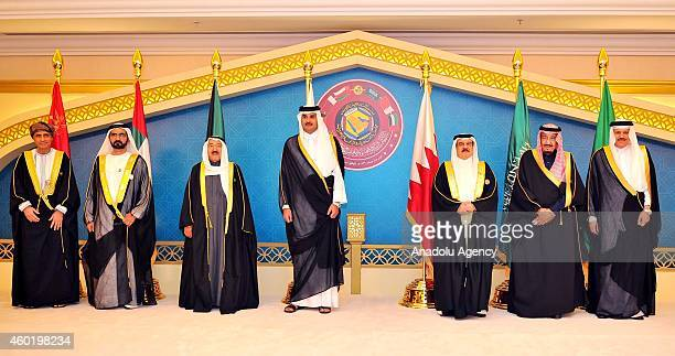 United Arab Emirates' Vice President and Emir of Dubai Mohammed bin Rashid Al Maktoum Kuwait's Emir Sheikh Ahmad AlJaber AlSabah Qatar's Emir Tamim...