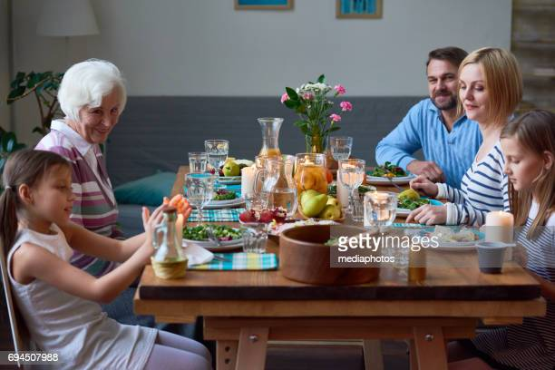 United family at one table