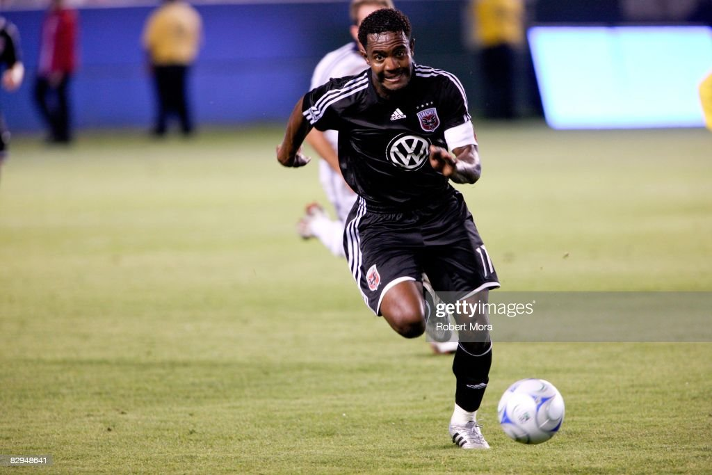 C United forward Luciano Emilio chases down a loose ball during the MLS game against the Los Angeles Galaxy at Home Depot Center on September 20 2008...