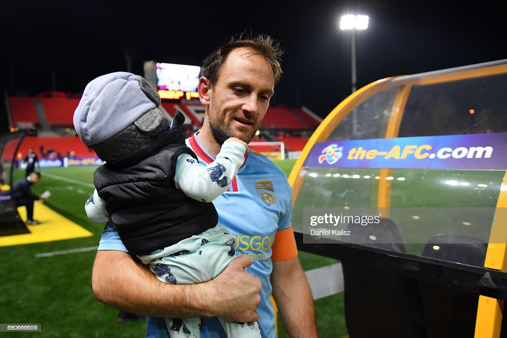United goalkeeper Eugene Galekovic walks from the field after the AFC Champions League match between Adelaide United and Jiangsu Sainty at Hindmarsh Stadium on May 9, 2017 in Adelaide, Australia.