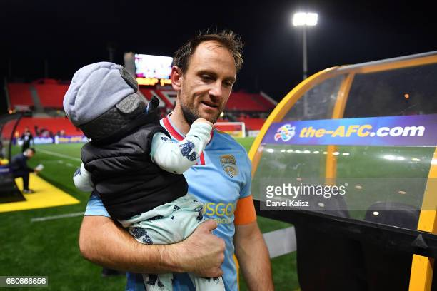 United goalkeeper Eugene Galekovic walks from the field after the AFC Champions League match between Adelaide United and Jiangsu Sainty at Hindmarsh...
