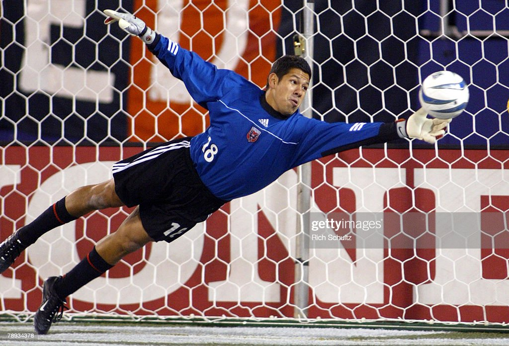 DC United goalkeeper Nick Rimando makes a save against the MetroStars during the first half in Game 1 of the Eastern Conference Semifinals at Giants...