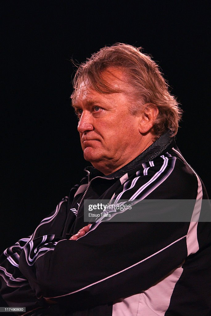 JEF United Ichihara head coach <a gi-track='captionPersonalityLinkClicked' href=/galleries/search?phrase=Ivica+Osim&family=editorial&specificpeople=776551 ng-click='$event.stopPropagation()'>Ivica Osim</a> looks on during the J.League Division 1 first stage match between JEF United Ichihara and Yokohama F. Marnios at Ichihara Rinkai Stadium on April 26, 2003 in Ichihara, Chiba, Japan.
