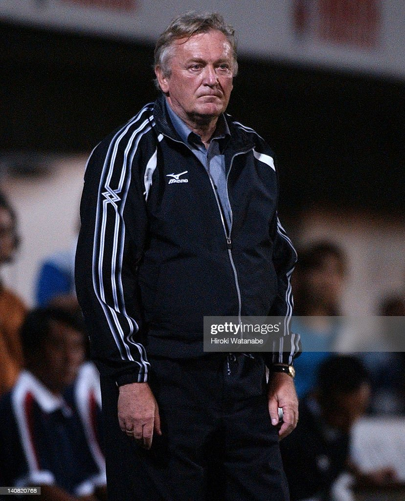 JEF United Ichihara head coach <a gi-track='captionPersonalityLinkClicked' href=/galleries/search?phrase=Ivica+Osim&family=editorial&specificpeople=776551 ng-click='$event.stopPropagation()'>Ivica Osim</a> looks on during the J.League match between Jubilo Iwata and JEF United Ichihara at Yamaha Stadium on July 20, 2003 in Iwata, Shizuoka, Japan.