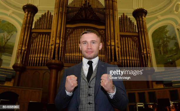 United Kingdom 27 September 2017 Carl Frampton after a press conference to announce the Frampton Reborn Boxing Promotion by Frank Warren at the...