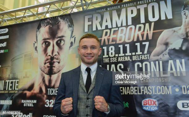 United Kingdom 27 September 2017 Carl Frampton during a press conference to announce the Frampton Reborn Boxing Promotion by Frank Warren at the...