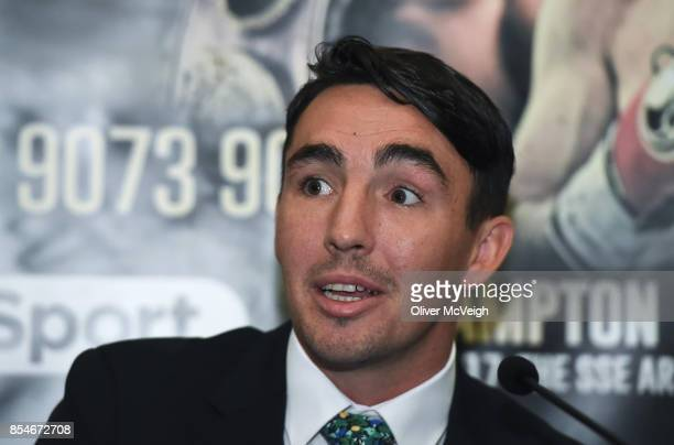 United Kingdom 27 September 2017 Jamie Conlan during a press conference to announce the Frampton Reborn Boxing Promotion by Frank Warren at the...
