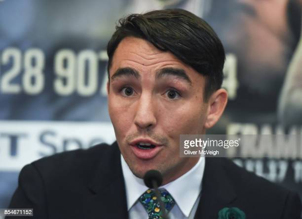 United Kingdom 27 September 2017 Jamie Conlon during a press conference to announce the Frampton Reborn Boxing Promotion by Frank Warren at the...