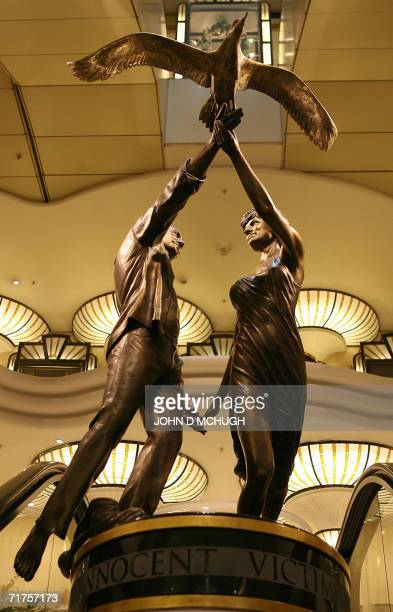 A memorial to Diana Princess of Wales and Dodi alFayed is pictured in Harrods in London 31 August 2006 on the ninth anniversary of their death Diana...