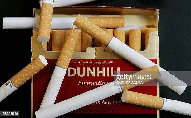 A packet of Dunhill cigarettes made by British American Tobacco is photographed in London 28 February 2006 Cigarette giant British American Tobacco...