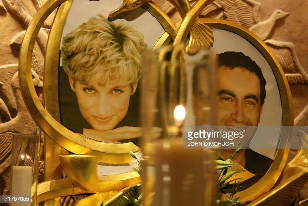 A permanent memorial to Diana Princess of Wales and Dodi alFayed is pictured in the Harrods store in London 31 August 2006 on the ninth anniversary...
