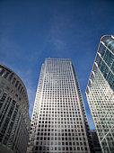 United Kingdom, Canary Wharf Tower, low angle view