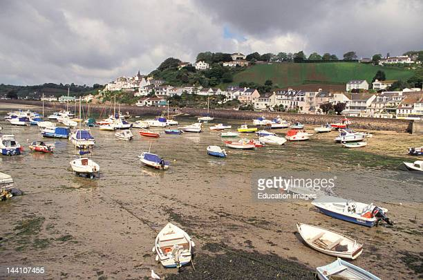 United Kingdom Channel Islands Jersey Gorey Marina At Low Tide
