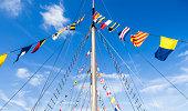 United Kingdom, England, Bristol, pennants on the mast