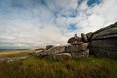United Kingdom, England, Cornwall, Bodmin Moor, Rock formation Rough Tor