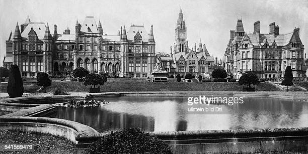 United Kingdom England Eccleston near Chester Country house by the Duke of Westminster Eaton Hall built by Alfred Waterhouse garden front Published...