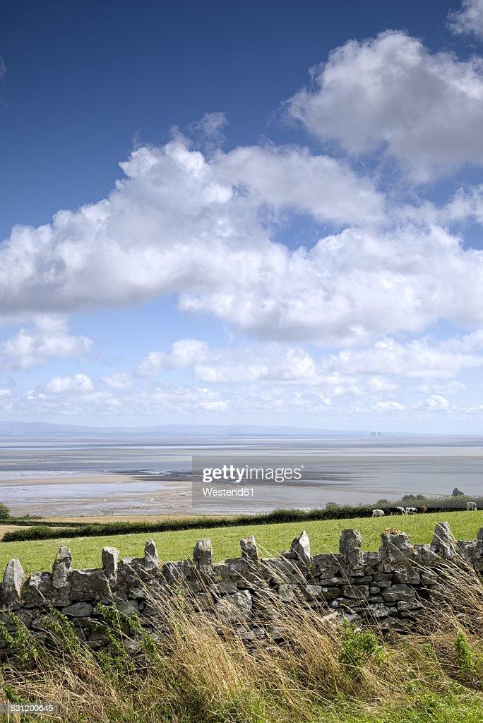 United Kingdom, England, Lancashire, View to Morecambe Bay