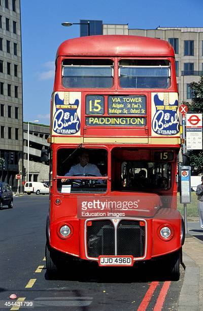 United Kingdom England London Double Decker Bus Front View