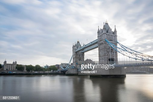 United Kingdom, England, London, Tower Bridge and River Thames