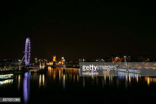 United Kingdom England London View Of City And River At ...