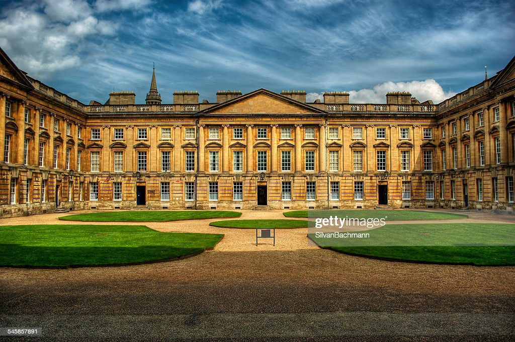 United Kingdom, England, Oxford, Courtyard of Christ Church : Stock Photo