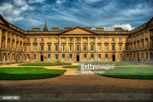 United Kingdom, England, Oxford, Courtyard of Christ Church