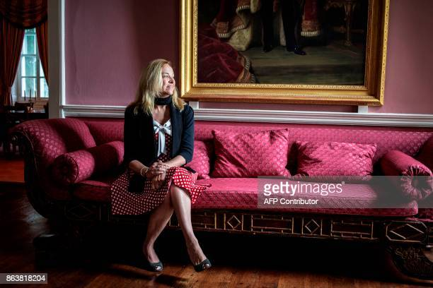 United Kingdom Governor of Saint Helena Lisa Philipps poses for a portrait at the Plantation House the United Kingdom Governor official residence on...