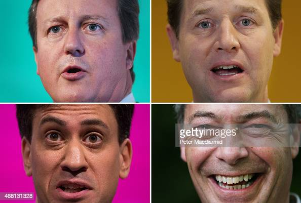 A comparison has been made between Four UK Politicians David Cameron Nick Clegg Ed Miliband and Nigel Farage all running for office in the 2015...