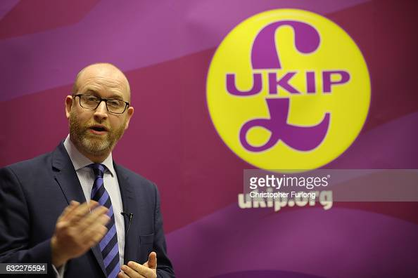United Kingdom Independent Party leader Paul Nuttall announces that he is to be the party's candidate to stand for member of parliament in the...
