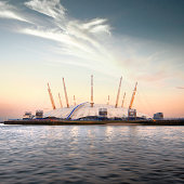 United Kingdom, London, View of O2 Arena