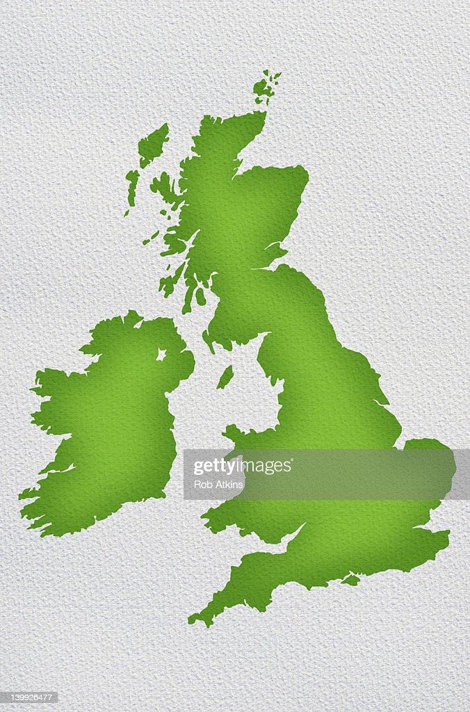 United Kingdom Map : Stock Photo