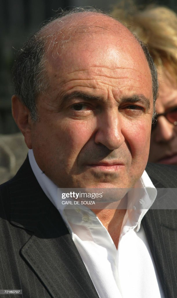 Russian businessman <a gi-track='captionPersonalityLinkClicked' href=/galleries/search?phrase=Boris+Berezovsky+-+Businessman&family=editorial&specificpeople=772839 ng-click='$event.stopPropagation()'>Boris Berezovsky</a> is pictured as he attends a memorial to murdered Russian political journalist Anna Politkovskaya, outside Westminster Abbey in London, 13 October 2006. Politkovskaya was murdered by an unknown killer on 08 October 2006. The execution-style slaying of Russian investigative journalist Anna Politkovskaya, who was almost alone in Russia's media to report war crimes in Chechnya, sparked outrage in Russia and abroad. AFP PHOTO/CARL DE SOUZA