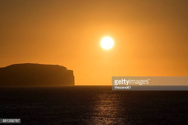 United Kingdom, Scotland, Dunnet Head, Pentland Firth at sunset