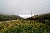 United Kingdom, Scotland, Highlands, Power pole