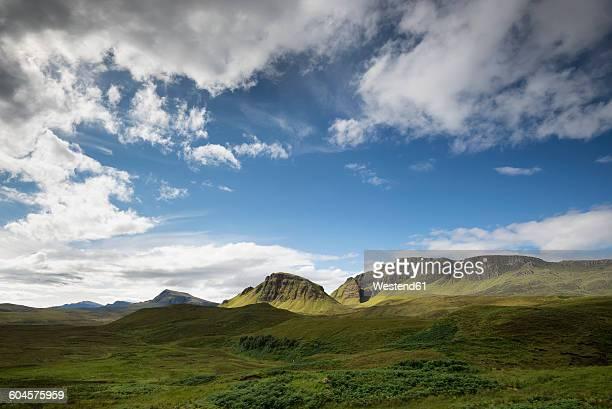 United Kingdom, Scotland, Isle of Skye, Quiraing, Trotternish Ridge