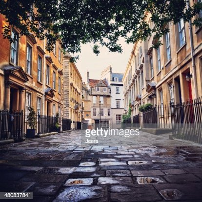 United Kingdom, Somerset, Bath,  Quiet alley