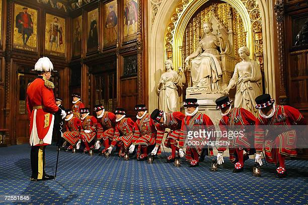 Yeoman Warders or Beefeaters collect lanterns as they prepare for the 'Ceremonial Search' in the Prince's Chamber in the Hose of Lords as Britain's...