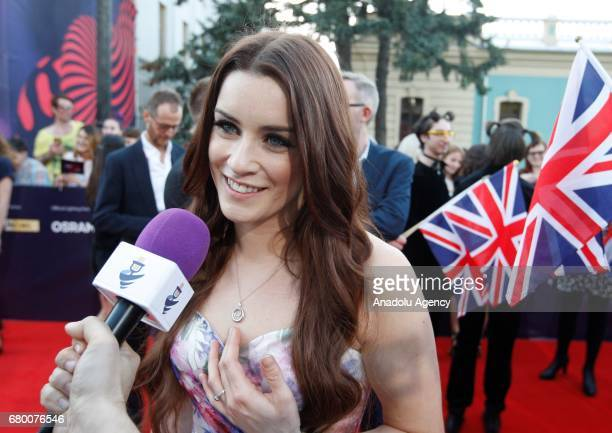 United Kingdom's representative for Eurovision 2017 Lucie Jones attends the Red Carpet of the Eurovision Song Contest at the Mariinksy Park in Kiev...