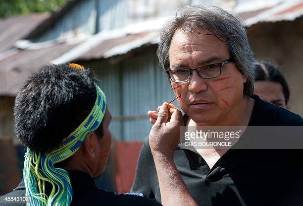 United Nations appointed Special Rapporteur on the Situation of Human Rights and Fundamental Freedoms of Indigenous Peoples James Anaya has his face...