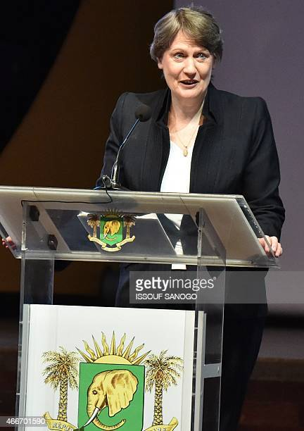 United Nations Development Programme Administrator Helen Clark delivers a speech at the opening of the 'International Conference on the Emergence of...