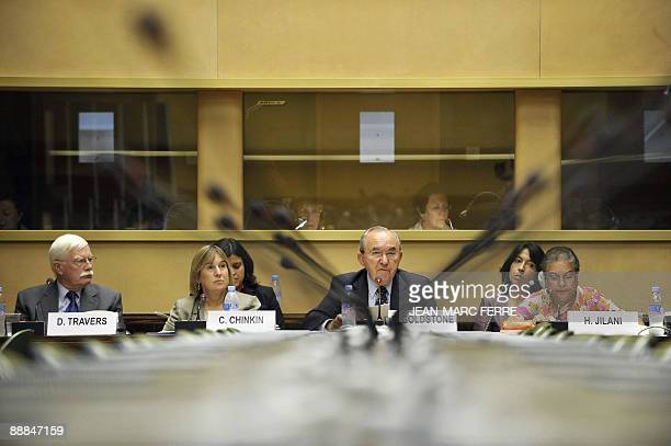 A United Nations handout photo taken on July 6 2009 shows the head of a UN human rights mission investigating alleged violations committed during the...