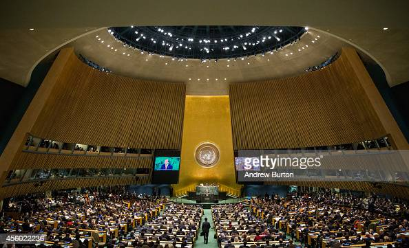 United Nations Secretary General Ban KiMoon opens the 69th United Nations General Assembly on September 24 2014 in New York City The annual event...