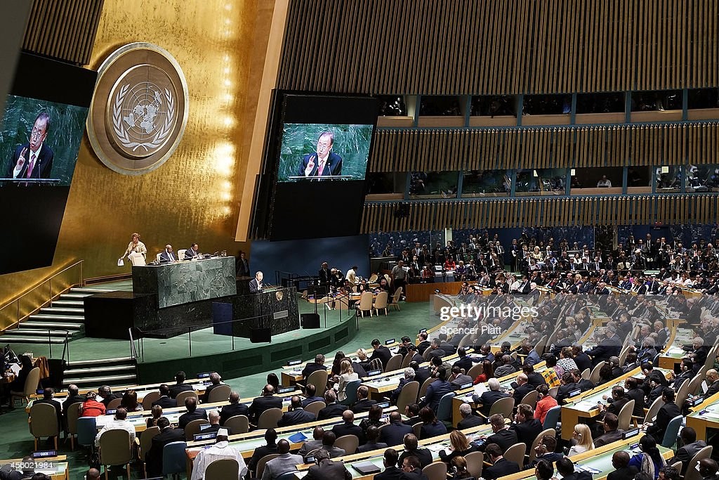 United Nations SecretaryGeneral Ban Kimoon opens the 69th Session of the United Nations General Assembly on September 24 2014 in New York City World...