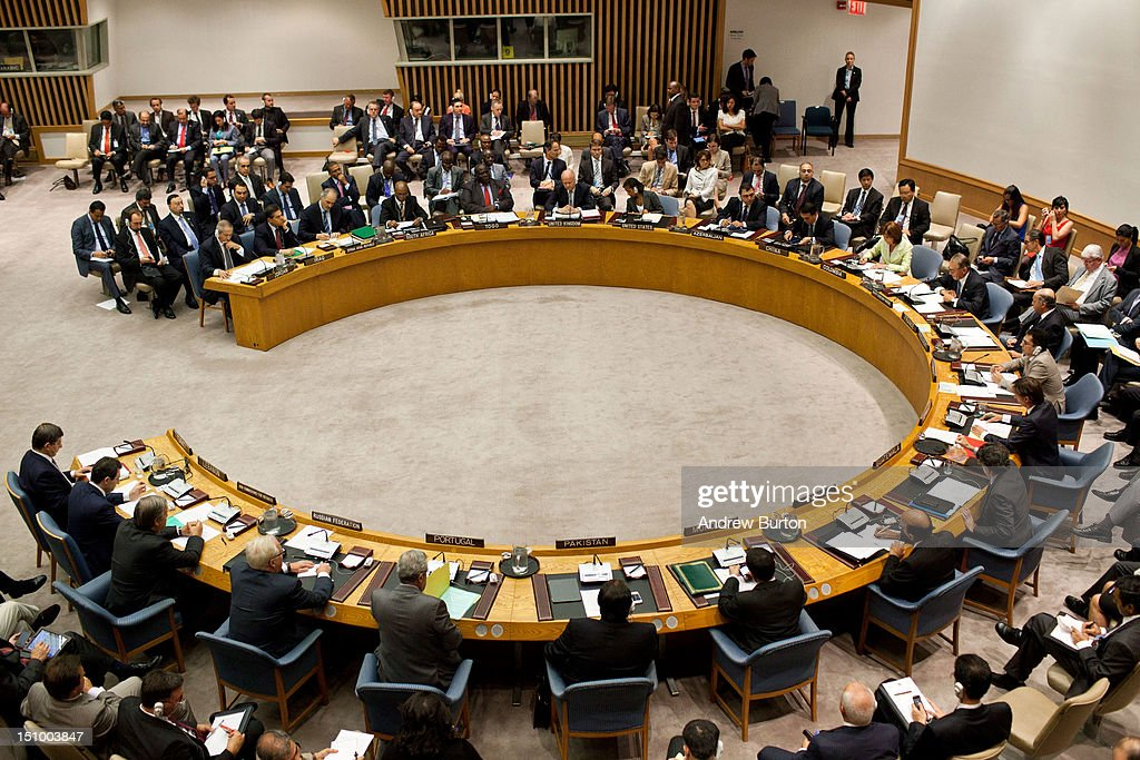 A United Nations (UN) Security Council meets regarding the on-going civil war in Syria on August 30, 2012 in New York City. UN Security Council negotiations regarding the situation in Syria collapsed last month.