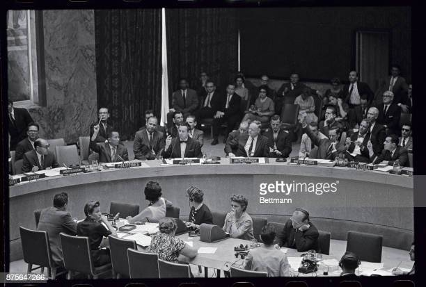 United Nations Security Council votes 90 with Britain and France abstaining in favor of embargo of all arms and military equipment to South Africa...