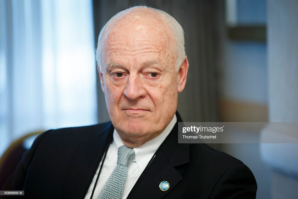 United Nations special envoy to Syria Staffan de Mistura is pictured before a meeting of the International Syria Support Group (ISSG) on February 11, 2016 in Munich, Germany. The participants will discuss the implementation of the Vienna principles, UN Security Council resolution 2254 on Syrian reconciliation and the continuation of the Geneva peace talks.