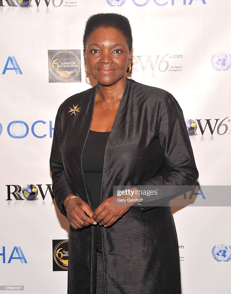 United Nations UnderSecretary General for Humanitarian Affairs and Emergency Relief Coordinator Baroness Valerie Amos attends the Row6 Six Degrees of...